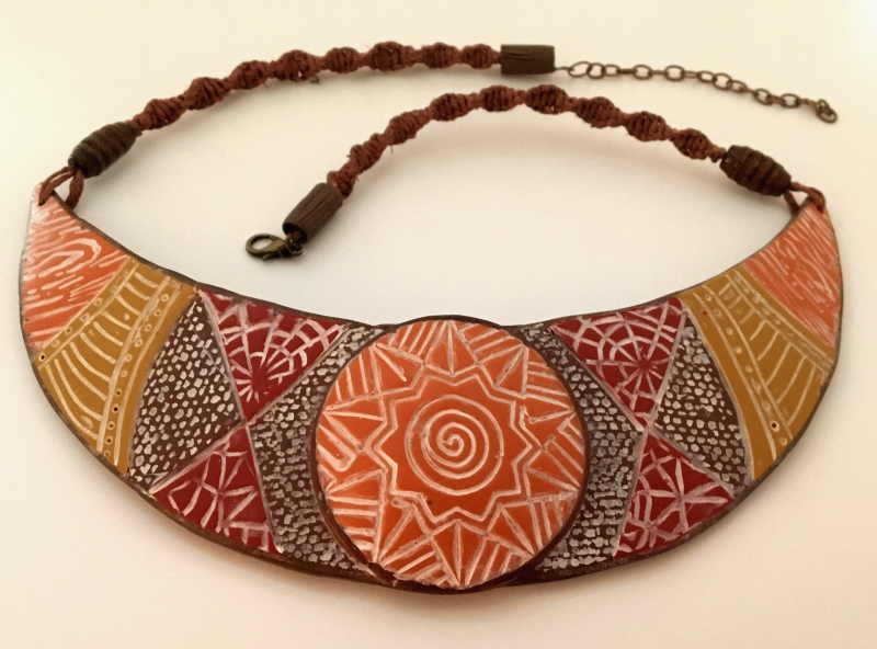Autumn Multi-Color Textured Collar Necklace